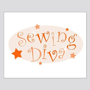 """Sewing Diva"" [orange] Small Poster"